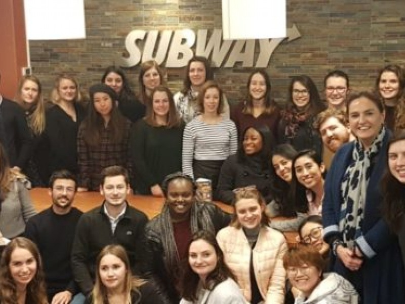 """""""Subway Day"""" for the students of the Master in Franchising, Retail and Service Chains"""