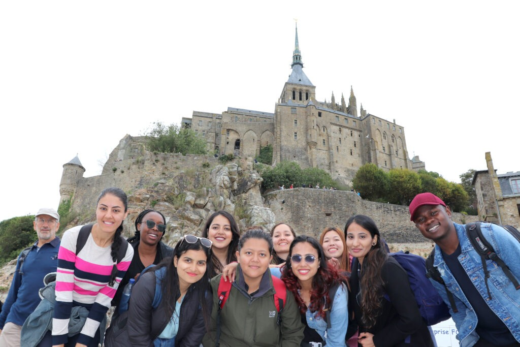IGR-IAE Rennes International Students at Mont-St-Michel