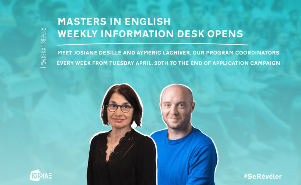 Masters in English – Weekly information desk opens
