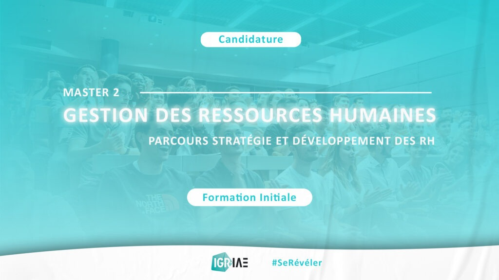 Candidature : Master 2 Gestion des Ressources Humaines